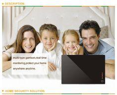 FLOUREON® Security Wireless GSM Autodial Home Office Burglar Intruder Smoke CO Alarm System Support iOS Android Black UK