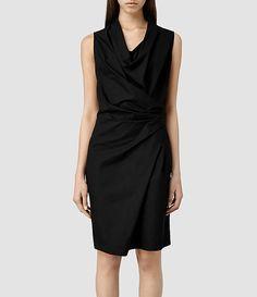 Womens Edyen Dress (Black) - ALLSAINTS
