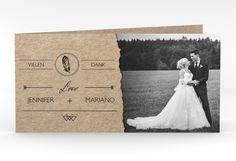 "Danksagungskarte Hochzeit ""Colorado"" DIN lang Klappkarte"