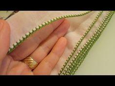Crochet Blanket Edging, Crochet Edging Patterns, Crochet Lace Edging, Crochet Borders, Embroidery Neck Designs, Creative Embroidery, Hand Embroidery Stitches, Crochet Stitches, Knit Crochet
