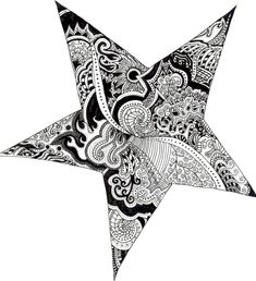 Star tattoo paisley design doodles by ~lizardasaurous