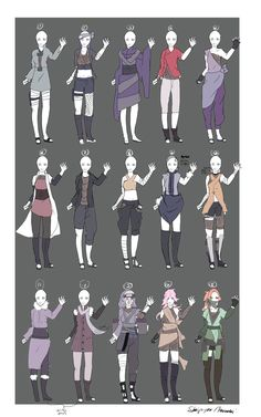 DeviantArt: More Like Naruto Outfit Adoptables -OPEN- V.V by Skip-per
