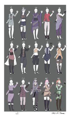 DeviantArt: More Like Naruto Outfit Adoptables -OPEN- V.V by Skip-per