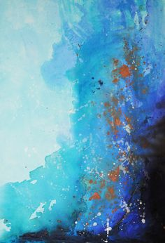 *abstract painting, art, blue* - blue suede blues print