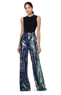 Kimmel Pant Sequin Fabric, Tall Women, Long Pants, Wide Leg, Harem Pants, Jumpsuit, Bodysuit, Sequins, Nyc
