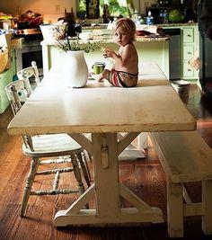 The Lorimer Workshop: Custom Farm Tables - Old Board Dutch Style Trestle Table Farm Tables, Trestle Tables, Dining Table, Farm Style Table, Lake Cottage, Home Crafts, Kitchen Remodel, Building A House, Dutch