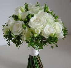 white /green wedding bouquet