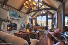 863 Hunter Creek Road - Price: $9,950,000 - Listing #121228 - This elegant Red Mountain residence features a modern mountain look with stunning views overlooking Aspen. Additional highlights of this 5 bed/ 5 bath home are climate controlled wine room, pool table and full wet bar, African slate decks, custom iron work/stone work and sophisticated beam system throughout.