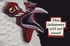Stand  bird RECTANGLE MAGNET by MincingMockingbird on Etsy, $4.50