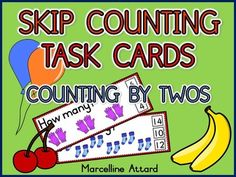 This hands-on fun pack, containing 20 task cards, is an ideal resource for your Math Center! Children have to count the objects in twos and clip the peg onto the corresponding number.