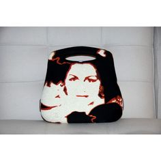 Chanel Mademoiselle Millenium Bag.  Rare and highly collectible Millenium Bag from 1999 with Warhol-esque images of Coco Chanel emblazened on both the front and back of the bag.