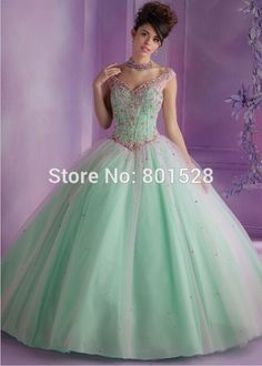 RQ03 Sexy Sweetheart Long Ball Gown Quinceanera Dresses 2015 Cap Sleeves Beaded Crystals Sweet 16 Dresses vestidos de 15 anos