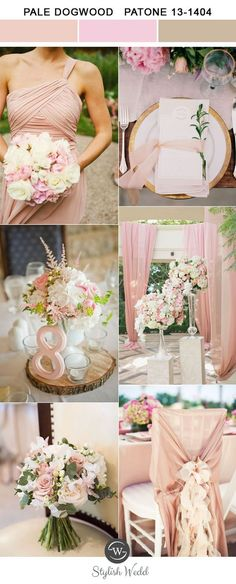 elegant pale dogwood pantone color trends for 2017 spring and summer weddings
