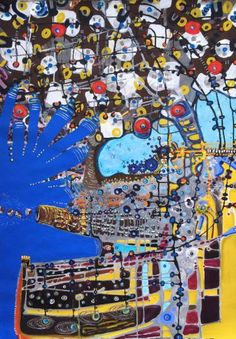 """Saatchi Art Artist Margaret Ann Withers; Painting, """"I have been untied unloosened my house flutter"""" #art"""