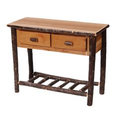 Found it at Wayfair.ca - Hickory Two Drawer Console Table