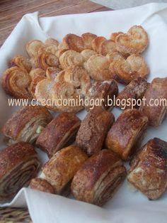 Rollitos de canela y palmeritas caseras