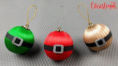 How to make Christmas Balls/DIY Christmas Decorations/Christmas Ornament... Christmas Balls, Christmas Diy, Christmas Ornaments, Ball Decorations, Christmas Decorations, Wall Hanging Crafts, Ribbon, Glitter, Pendant Necklace