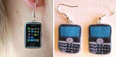 Cellphone Earrings