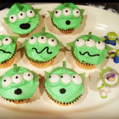 Buzz Lightyear Alien cupcakes for Aiden's 2nd birthday