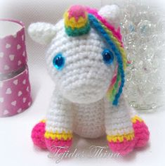 unicornio amigurumi Amigurumi Animals, Cat Amigurumi, Crochet Mermaid, Crochet Unicorn, Hello Kitty Crochet, Amigurumi For Beginners, Crochet Horse, Unicorn Crafts, Pet Gifts