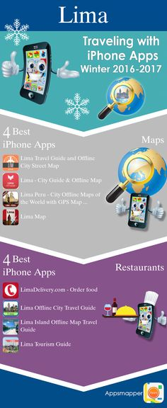Lima iPhone apps: Travel Guides, Maps, Transportation, Biking, Museums, Parking, Sport and apps for Students.