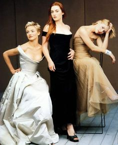 Cameron Diaz, Kate Winslet, Claire Danes by Annie Leibovitz for Vanity Fair's Hollywood Issue, April 1997