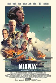 Midway Directed by Roland Emmerich. With Ed Skrein, Patrick Wilson, Woody Harrelson, Luke Evans. The story of the Battle of Midway, told by the leaders and the sailors who fought it. Patrick Wilson, Luke Evans, Luke Kleintank, Pearl Harbor, Mandy Moore, Tv Series Online, Movies Online, Amazon Movies, Midway Movie