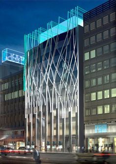 Carbondale Architects: Nova fachada Tiffany & Co., Toquio Carbondale Architects: New Facade Tiffany Futuristic Architecture, Facade Architecture, Amazing Architecture, Contemporary Architecture, Building Facade, Building Exterior, Building Design, Facade Design, Exterior Design