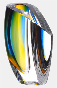 Kosta Boda 'Mirage' Vase Designed by my friend, Swedish artist, Goran Warff Glass Art Design, Art Of Glass, Stained Glass Church, Stained Glass Windows, Art Picasso, Cristal Art, Vases, Kosta Boda, Style Deco