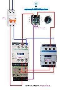 Inversor De Giro Con Conmutador De Maniobra En 2020 Esquemas Electricos Diagrama De Instalacion Electrica Instalacion Electrica Industrial