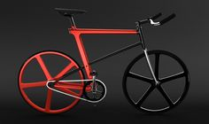 """a fixed gear bicycle concept for future hipsters."" ahhh... those silly future hipsters... they don't know what's cool yet."