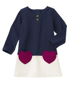 Heart Pocket Dress at Gymboree (Gymboree 3m-5T)