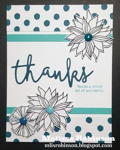 """Thank you for joining us for this month's Stamp of the Month Blog Hop featuring """" Thoughtful Flowers """". It is available this monthly only ..."""