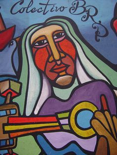 Ramona Parra by - Alejandro -, via Flickr Amazing Street Art, Mural Art, Street Art Graffiti, Medium Art, Painted Rocks, Disney Characters, Fictional Characters, Aurora Sleeping Beauty, Collage