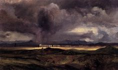 Stormy Weather over the Roman Campagna: Karl Blecher, 1829 (Nationalgalerie, Berlin)
