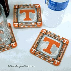 Vols University of Tennessee Volunteers Drink Coasters, Set of 8 $3.25