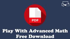 Play With Advanced Maths PDF Download Free