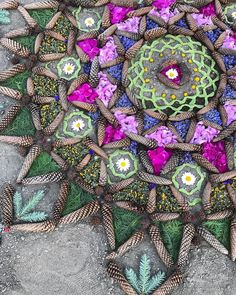Creating a mandala out of Earth's very own pieces of art  spiritual art | outdoor art | nature artwork | art for the soul | mandala art