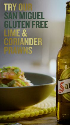 Prawns with beer? Give our newest San Miguel Gluten Free seafood recipe a go and discover Fish Recipes, Seafood Recipes, Cooking Recipes, Seafood Meals, Recipies, Gluten Free Party Food, Gluten Free Recipes, Trinidad Recipes, Trinidad Food