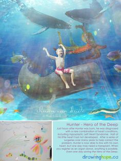 The Drawing Hope Project by Shawn Van Daele turns sick kids drawings into fairy tale photos - Hunter, Hero of the Deep - 4