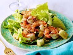 Update classic caeser with juicy lemon-pepper grilled shrimp.