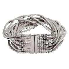 Gucci Diamond White Gold Multi-Strand Bracelet  Fourtane