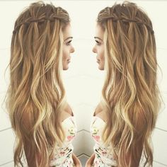 nice waterfall braid...