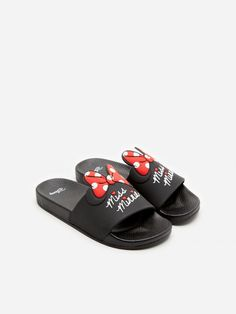 Klapki Minnie Mouse, HOUSE, YL189-99X I Love House, Pool Slides, Strappy Sandals, Minnie Mouse, Lady, Shoes, Fashion, Bebe, Moda