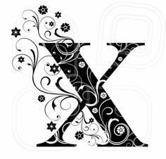 Letter Capital X, alphabet, arabic, art Monogram Alphabet, Alphabet And Numbers, Coloring Letters, Valentine Coloring Pages, Fancy Letters, White Letters, Paper Quilling Designs, Fancy Fonts, Vintage Typography