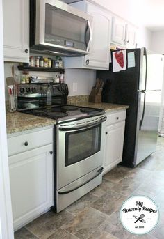 kitchen makeover by painting kitchen cabinets, kitchen cabinets, kitchen design…