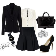 Black and White Winter 2013 Outfits for Women by Stylish Eve