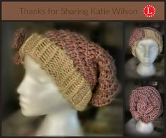 Loom Knit Spiral Hat Pattern