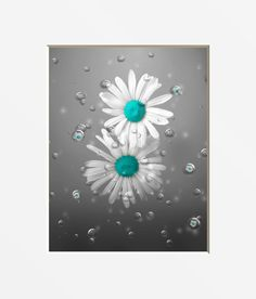 Bathroom Wall Art Photography/Decorative Daisy Flowers In Bubbles, Teal Bathroom Art, Matted Teal Home Decor Picture Coral Bathroom, Bathroom Floor Tiles, Bathroom Wall Decor, Bathroom Ideas, Brown Bathroom, Wall Decor Pictures, Bathroom Pictures, New Bathroom Designs, Bathtub Remodel