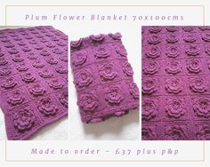 Ta dah.... Here's my latest complete order.  This is looby loops flower square related 70 times and crocheted together to make a blanket.  I've used style craft special dk yarn in Plum and I love it.  These are made to order. Just pop me a message  to order.  #crochet #crochetblanket #blanket #crochetaddict #crochetlove #crocheted #crochetersofinstagram #instacraft #instacrochet #craft #handmade #handmadeisbetter #handmadewithlove #baby #babyblanket #babygift #newbaby #newmum #mummy #toddler…